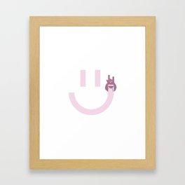 Handy man smiles Framed Art Print