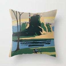 Thunder Bluff Classic Rail Poster Throw Pillow