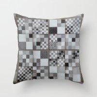 chess Throw Pillows featuring Chess  by Geometric Arte Studio