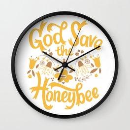 God Save the Honeybee Wall Clock