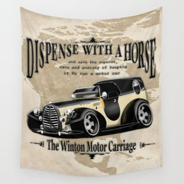 Retro car Wall Tapestry