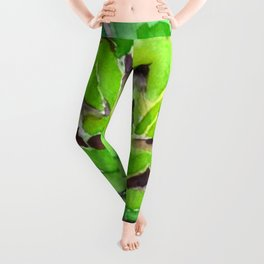 green succulent 3 Leggings