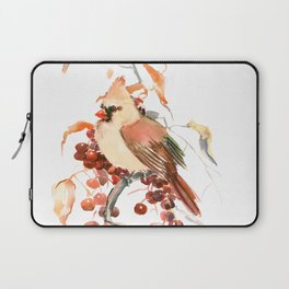 Cardinal and Berries Laptop Sleeve