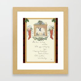 The Stockings Are Hung Framed Art Print