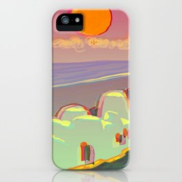 Red Moon Summer Vibrations iPhone Case
