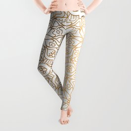 gold, Arabic, Art, Leaf, Light ,Metal ,Yellow, flowers, Leggings