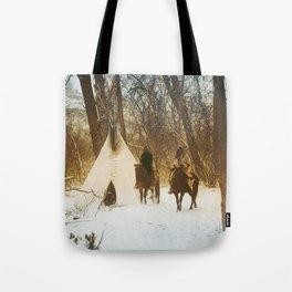 The winter camp - Crow (Apsaroke) Indians Tote Bag