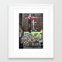 acdc Framed Art Prints featuring ACDC Lane by Kate Karsten