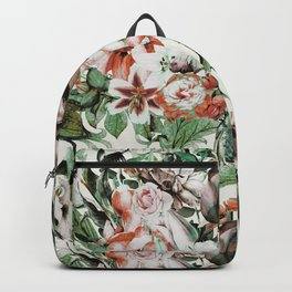 Exotic flowery abstract bouquet Backpack