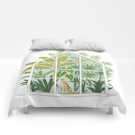 jungle greenhouse Comforters