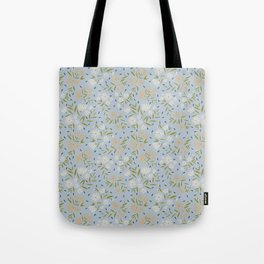 Winter garden pale-blue background Tote Bag