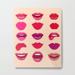 Lips #society6 Metal Print