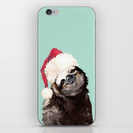 Christmas Sloth in Green iPhone Skin