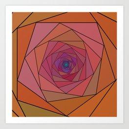 swirling pentagon 1 Art Print