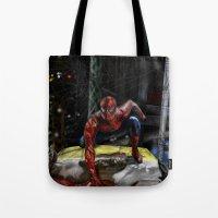 comic book Tote Bags featuring comic by Fila Venom Art