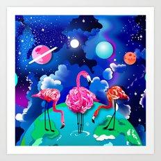 Cosmobirds Art Print