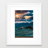 greece Framed Art Prints featuring Greece by Evgeny Eremeev