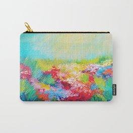 ETHERIAL DAYS - Stunning Floral Landscape Nature Wildflower Field Colorful Bright Floral Painting Carry-All Pouch