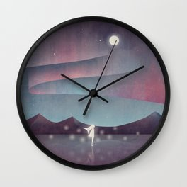 Descendant Of The Northern Lights Wall Clock