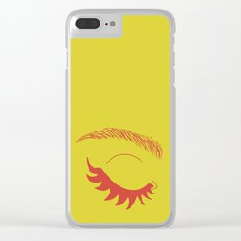 Betty Gone Batty (Red on Chartreuse Edition) Clear iPhone Case