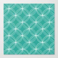 Star Pods - Aqua Canvas Print