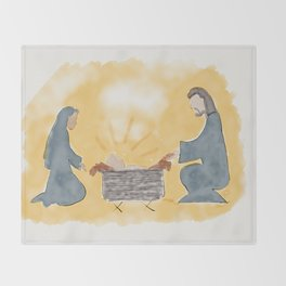 Away in a manger Throw Blanket