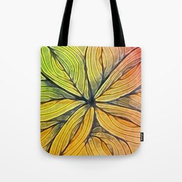 Doodled Aura-Leah Digitized Macro Tote Bag