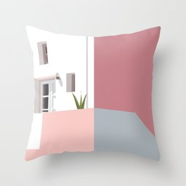 Postcard in pink Throw Pillow