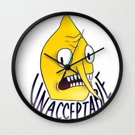 Unacceptable | Lemongrab Wall Clock