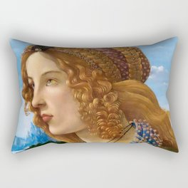"Sandro Botticelli ""Allegorical Portrait of a Lady (Simonetta Vespucci ?)"" Rectangular Pillow"