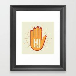 Hi five Framed Art Print