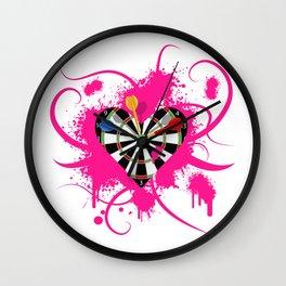Dartboard Romance Wall Clock