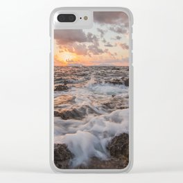 Tranquility at sunset Clear iPhone Case