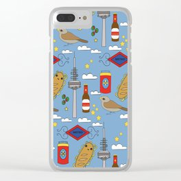 Madrid Pattern Clear iPhone Case