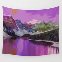 river Wall Tapestries featuring River by Asya Solo