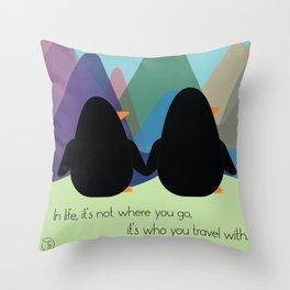 Travel Buddies Throw Pillow