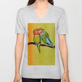 Sweetheart Birds Unisex V-Neck