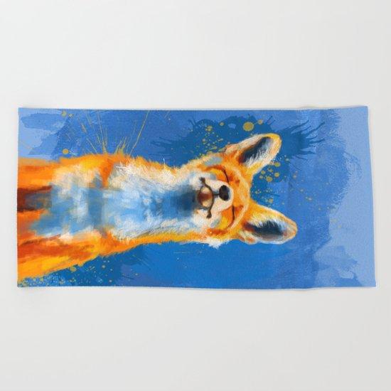 Happy Fox v2 Beach Towel