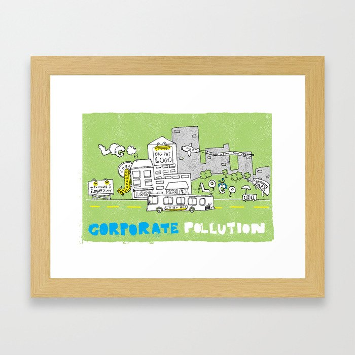 Corporate Pollution Framed Art Print