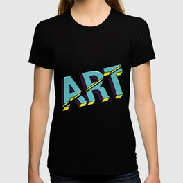 Art cut out design T-shirt