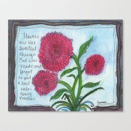 Soulless Flowers Canvas Print