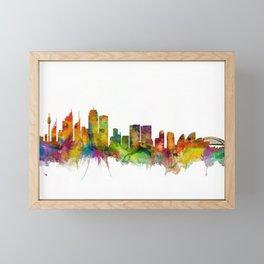 Sydney Australia Skyline Framed Mini Art Print