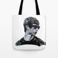 sunglasses Tote Bags featuring Sunglasses by Charlotte Massey