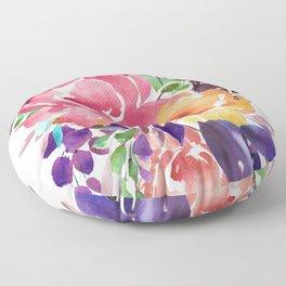 Abstract watercolor flower bouquet Floor Pillow