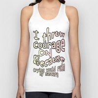 courage Tank Tops featuring Courage by Wired Circuit