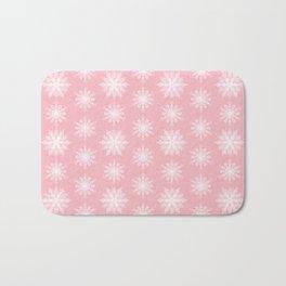 Frosty Snowflakes Sweet Blush Bath Mat