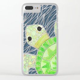 Tortu the Sassy Turtle Clear iPhone Case