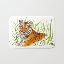 Zeus Tiger Bright Eyes Bath Mat