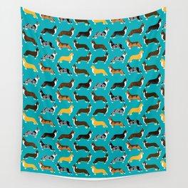 Corgi welsh corgi pattern print cute dog art pattern design pet portrait corgi puppy lovers fur baby Wall Tapestry