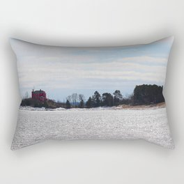 House Across the Water Rectangular Pillow